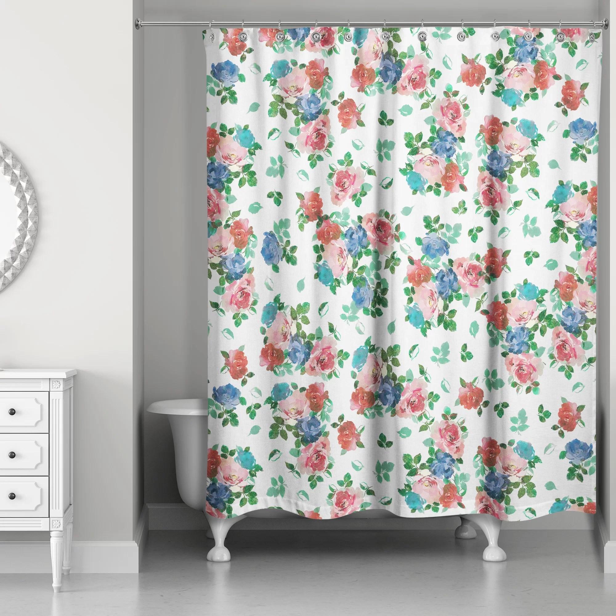 filleti vintage rose garden single shower curtain