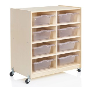 Guidecraft Wooden 8 Compartment Shelving Unit With Bins Wayfair