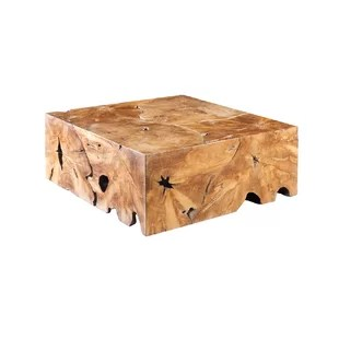 slice solid wood block coffee table
