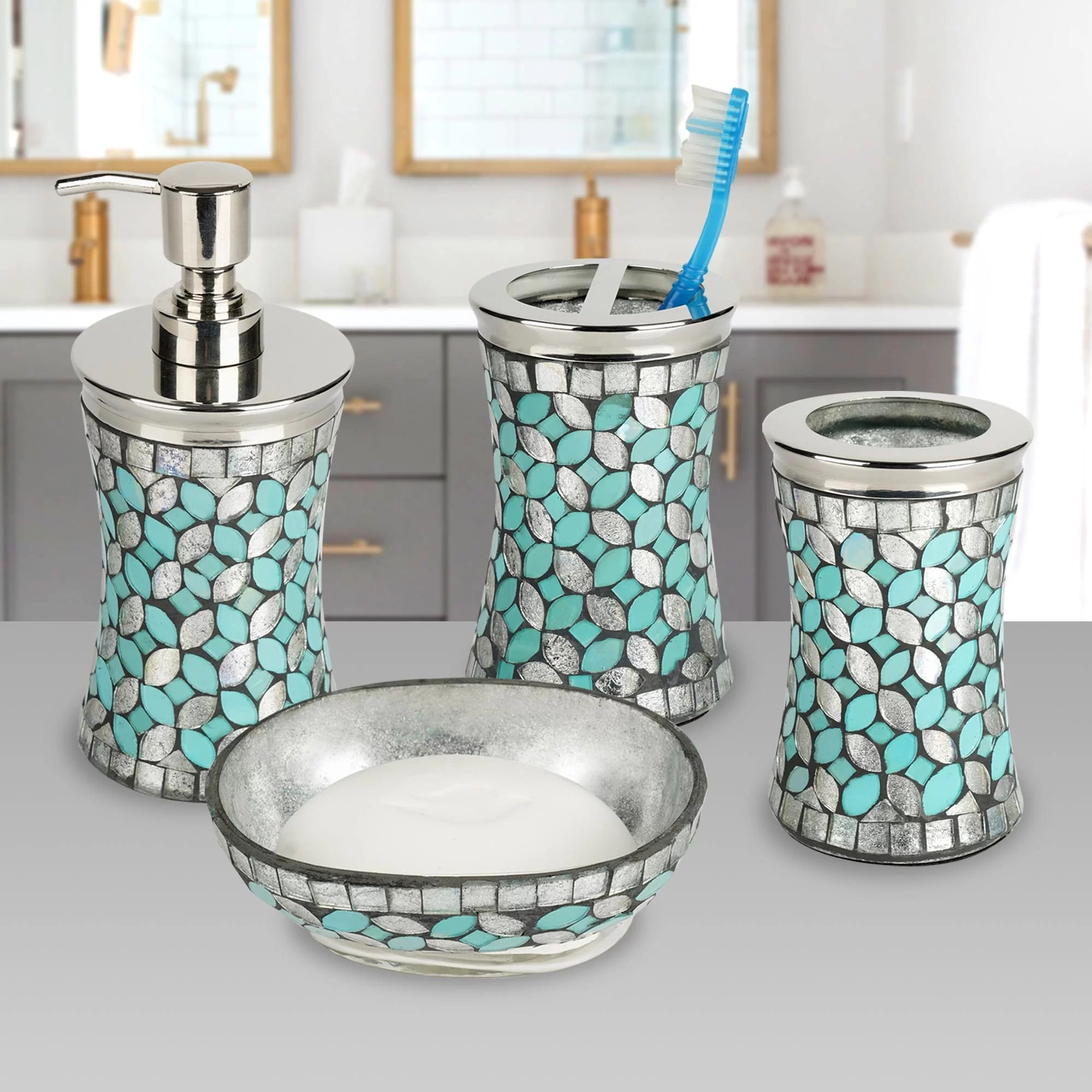 Highland Dunes Allsop 4 Piece Bathroom Accessory Set Reviews Wayfair