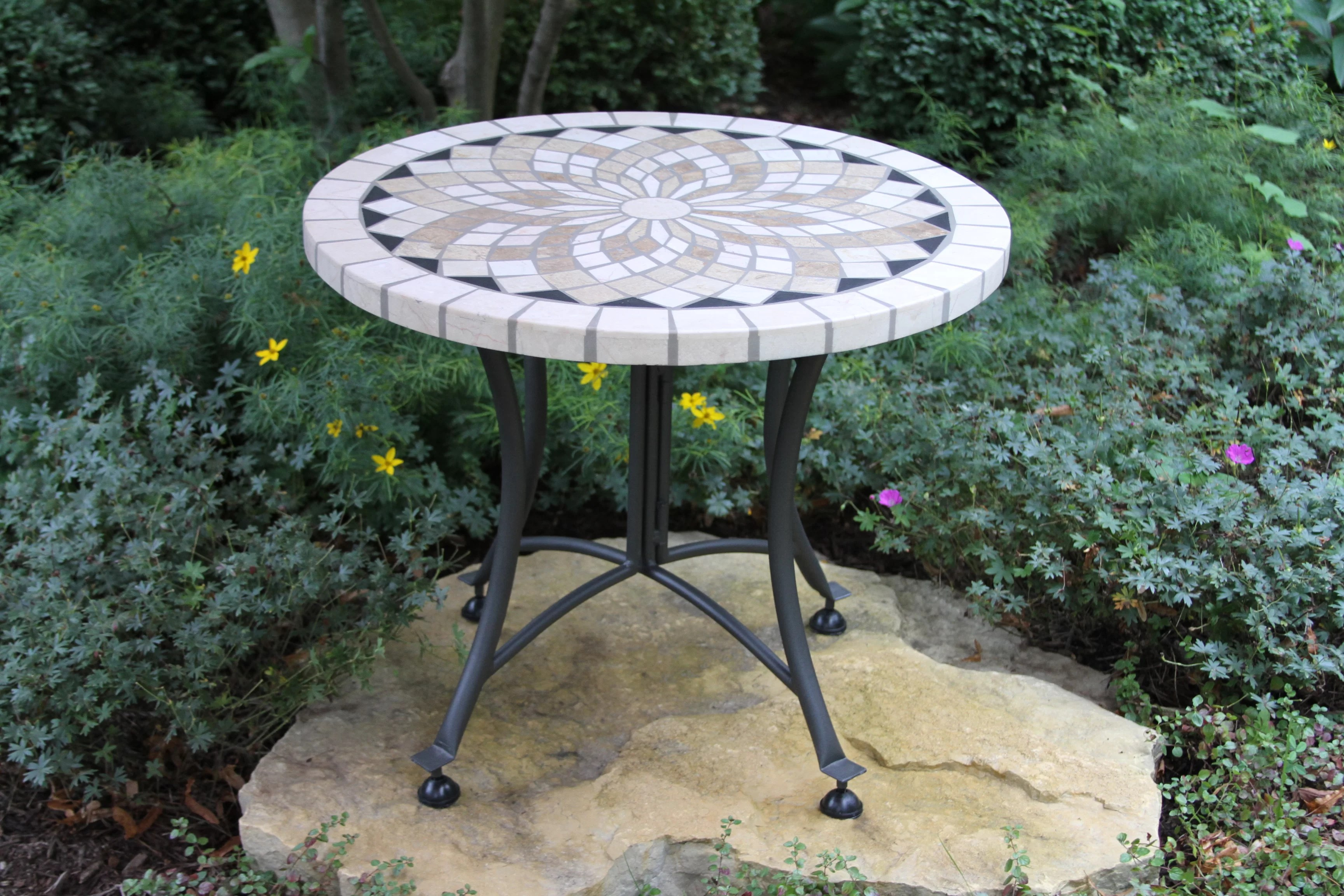 mosaic round patio tables you ll love