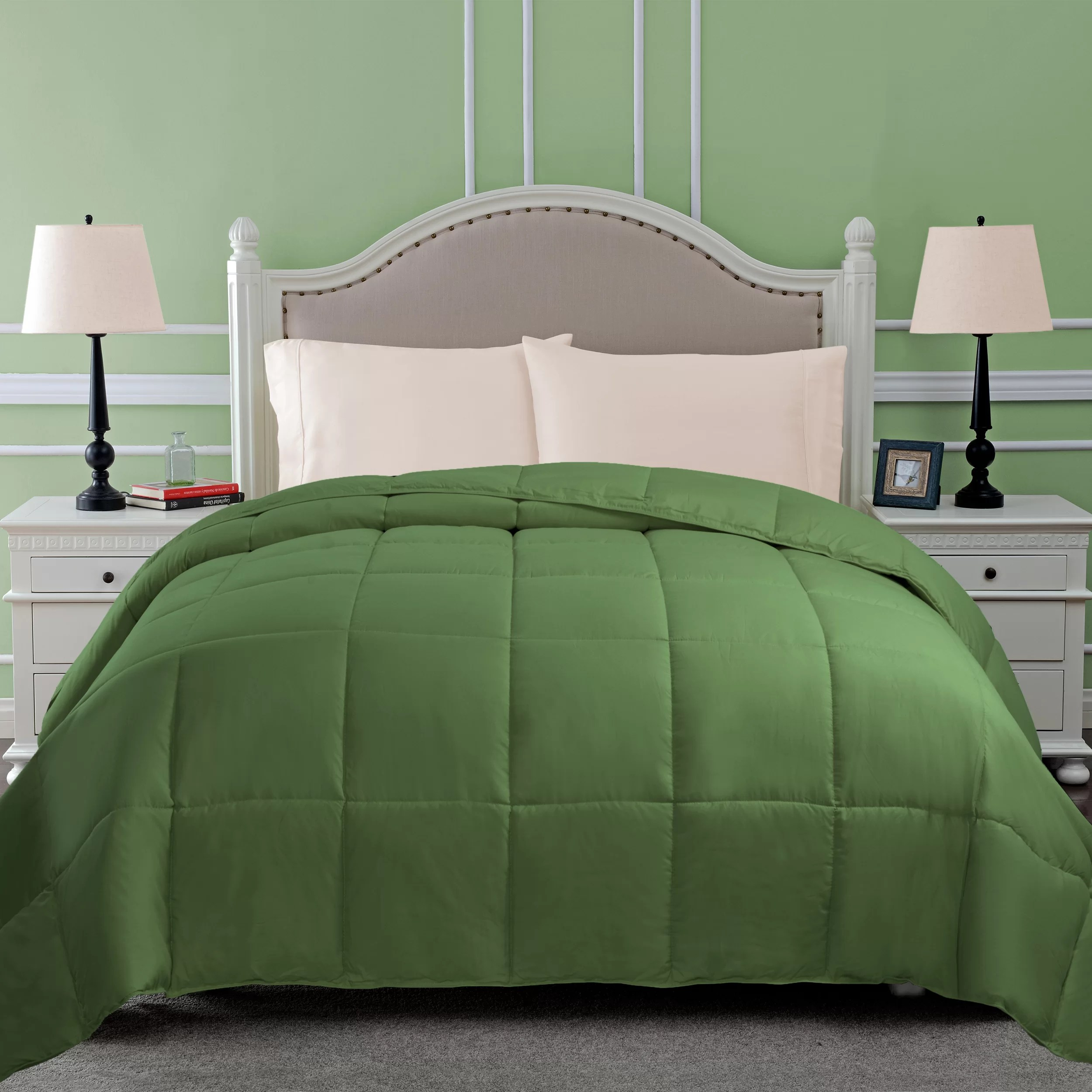 green comforters wayfair