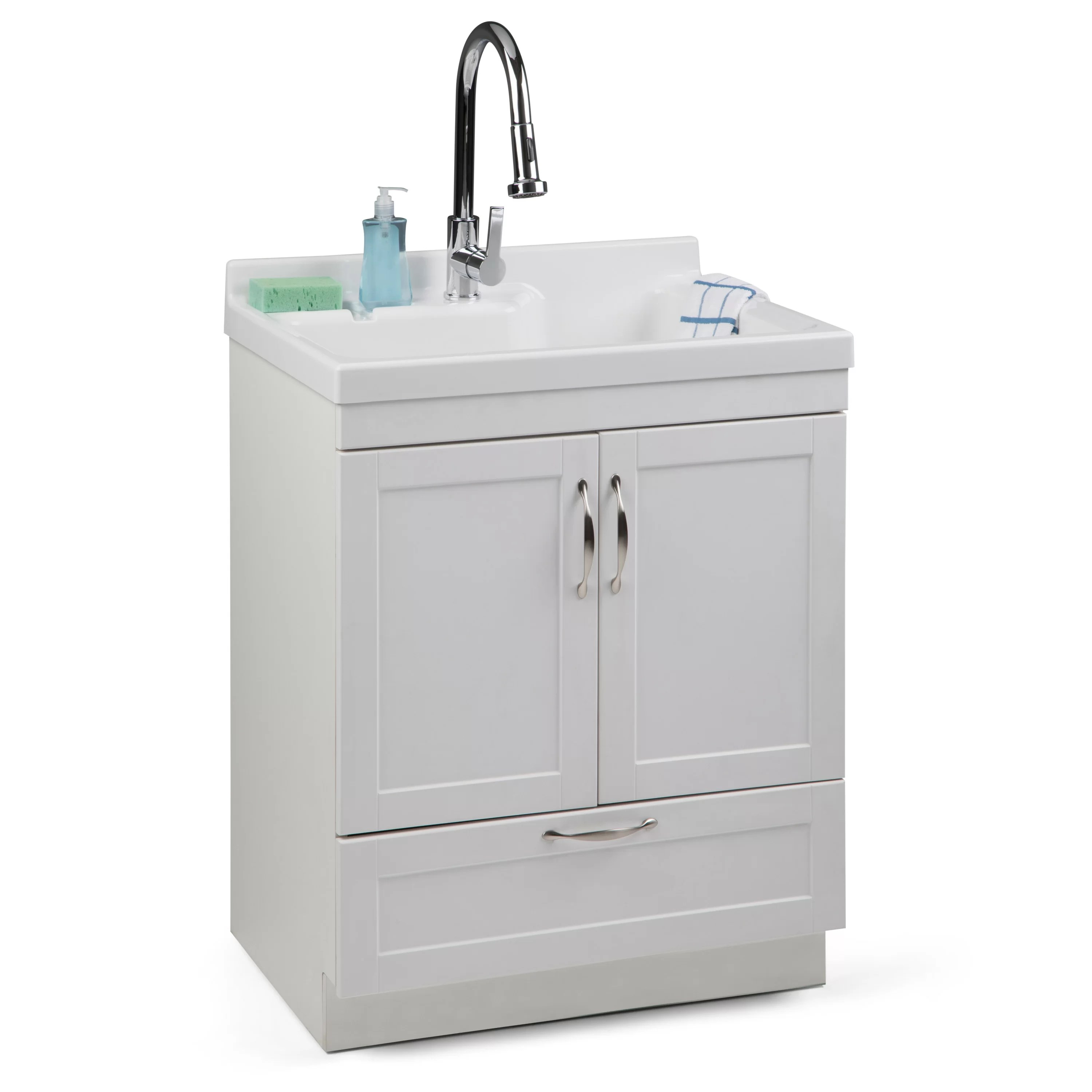 bott 28 l x 21 5 w free standing laundry sink with faucet