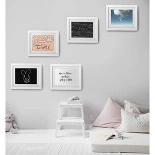 5 piece cavepop textured picture frame set set of 5