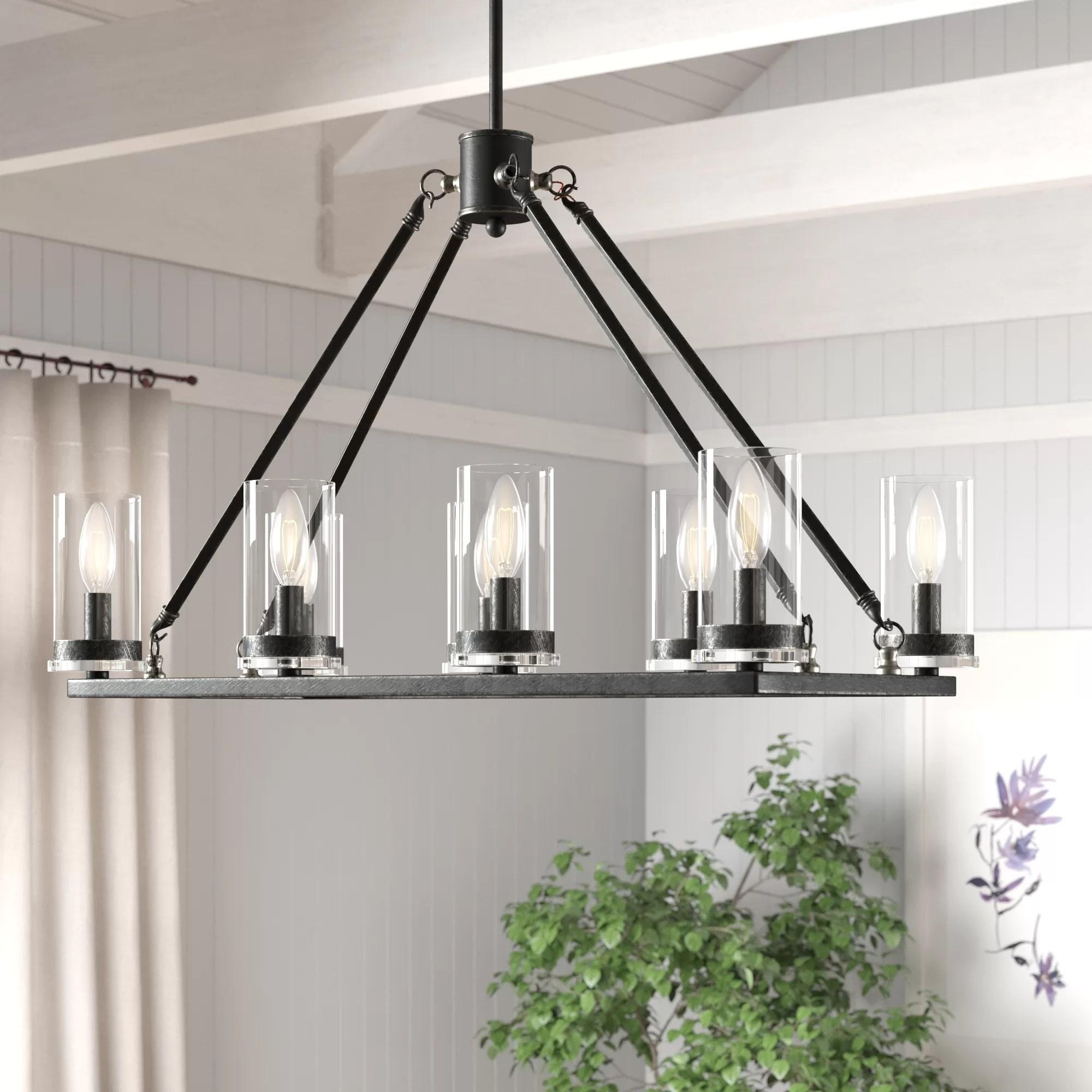 Anja 8 Light Kitchen Island Linear Pendant Reviews