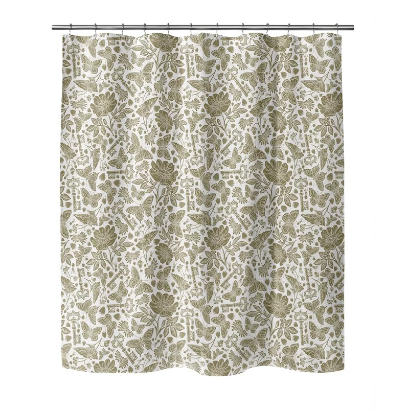 coen floral shower curtain