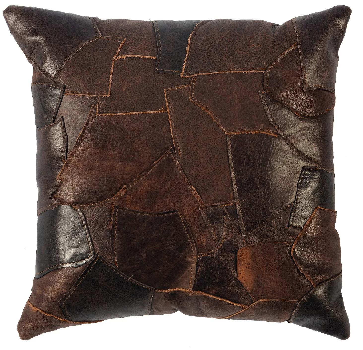 oyalowo leather throw pillow