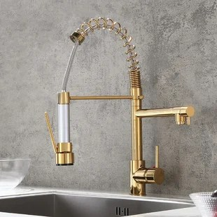 polished brass kitchen faucets free