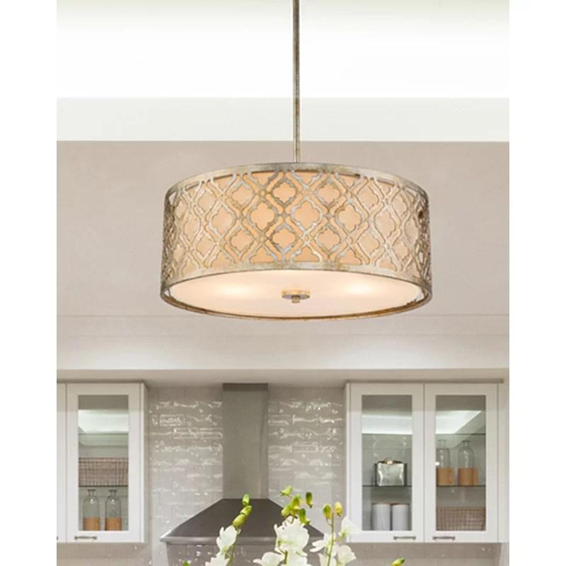 large distressed silver kitchen pendant to semi flush drum lighting fixture