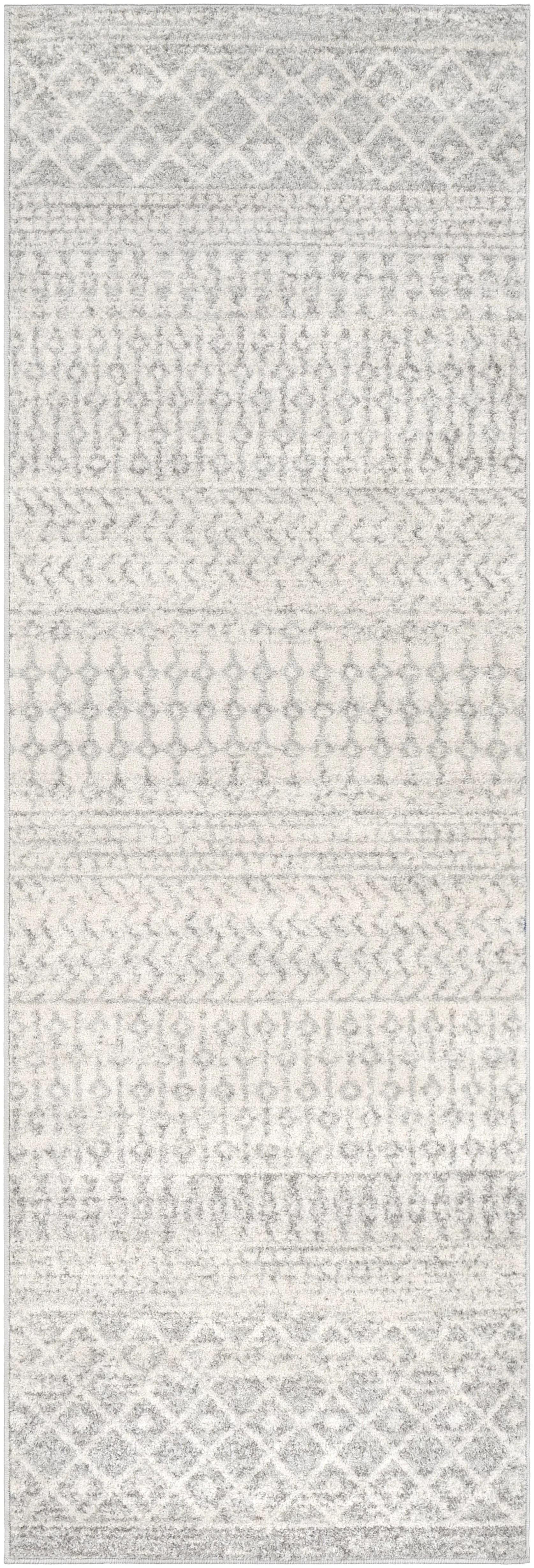 Union Rustic Kreutzer Distressed Gray Area Rug