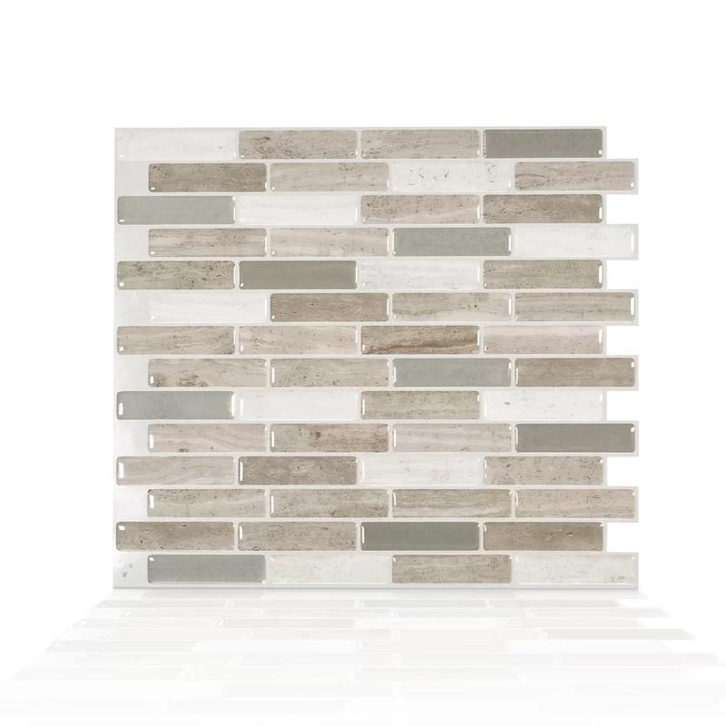 milenza vasto 9 x 10 2 gel peel stick mosaic tile