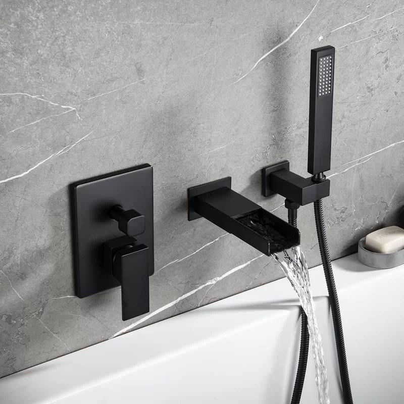 single handle wall mounted roman tub faucet