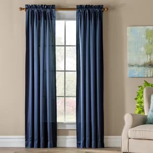 wayfair basics solid room darkening thermal rod pocket single curtain panel