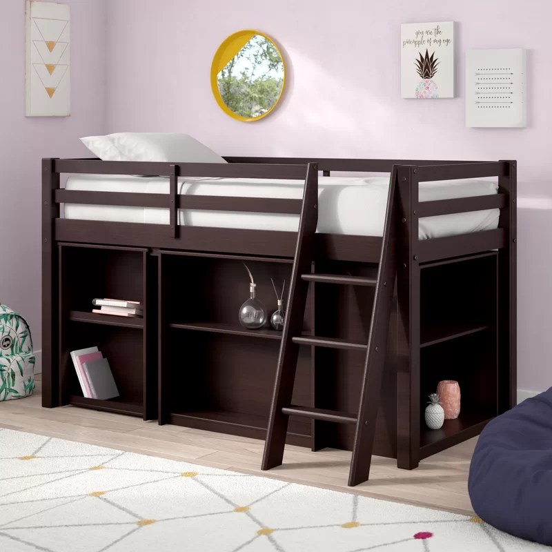 Low Loft Twin Bed With Desk