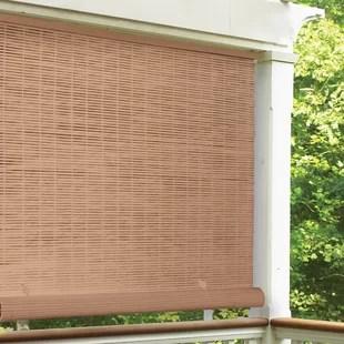 cord free semi sheer outdoor roll up shade