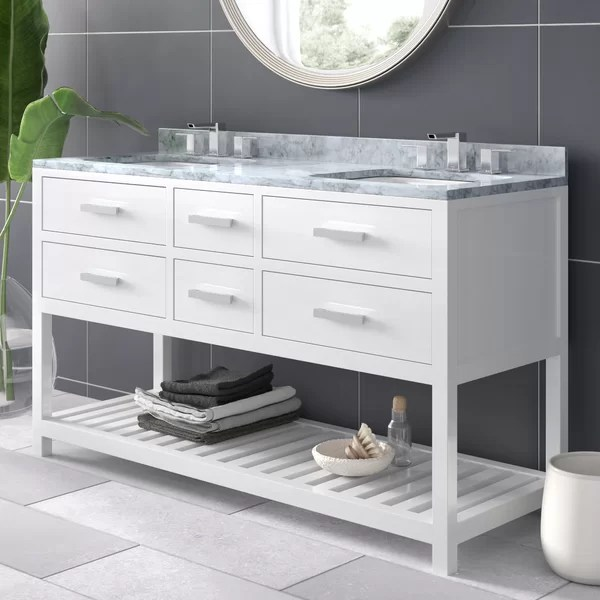 modern contemporary 60 inch vanity top double sink