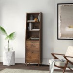 Drawer Equipped Narrow Bookcases You Ll Love In 2020
