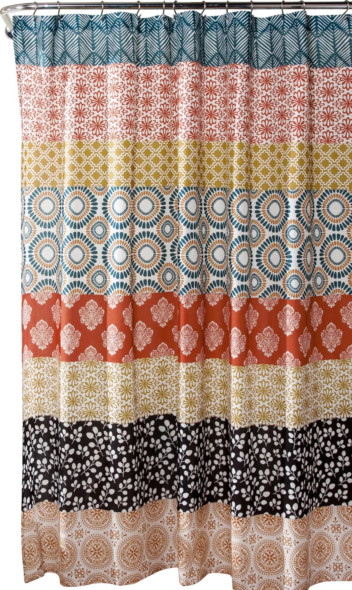 orange shower curtains shower liners