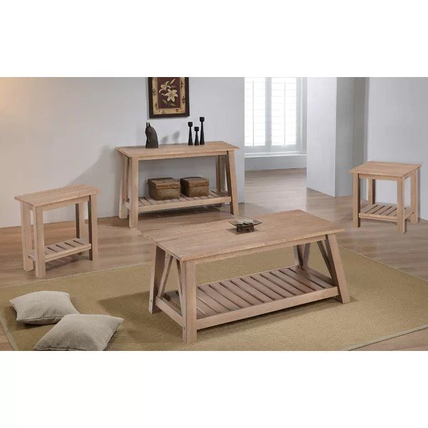 4 piece coffee table sets