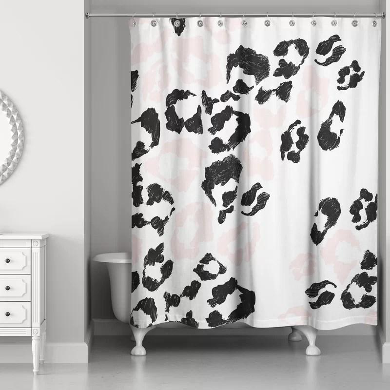 christiana leopard print single shower curtain