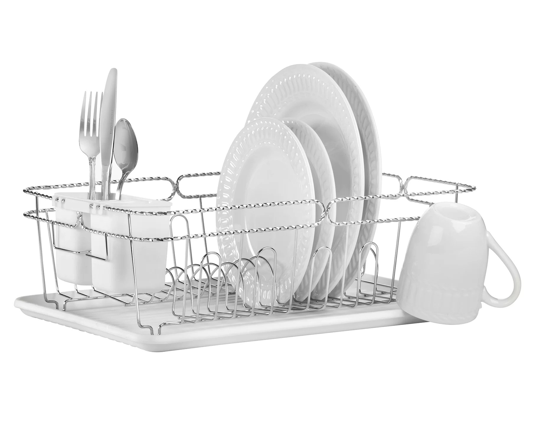 how to clean a dish rack wayfair