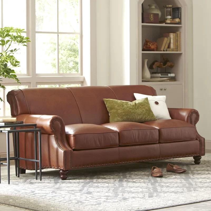 Landry Leather Sofa Reviews Birch Lane
