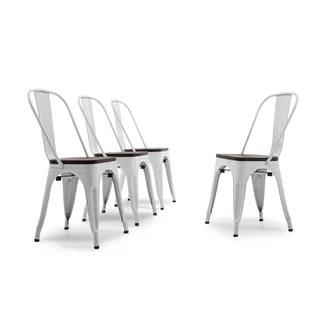 linzy metal slat back side chair set of 4