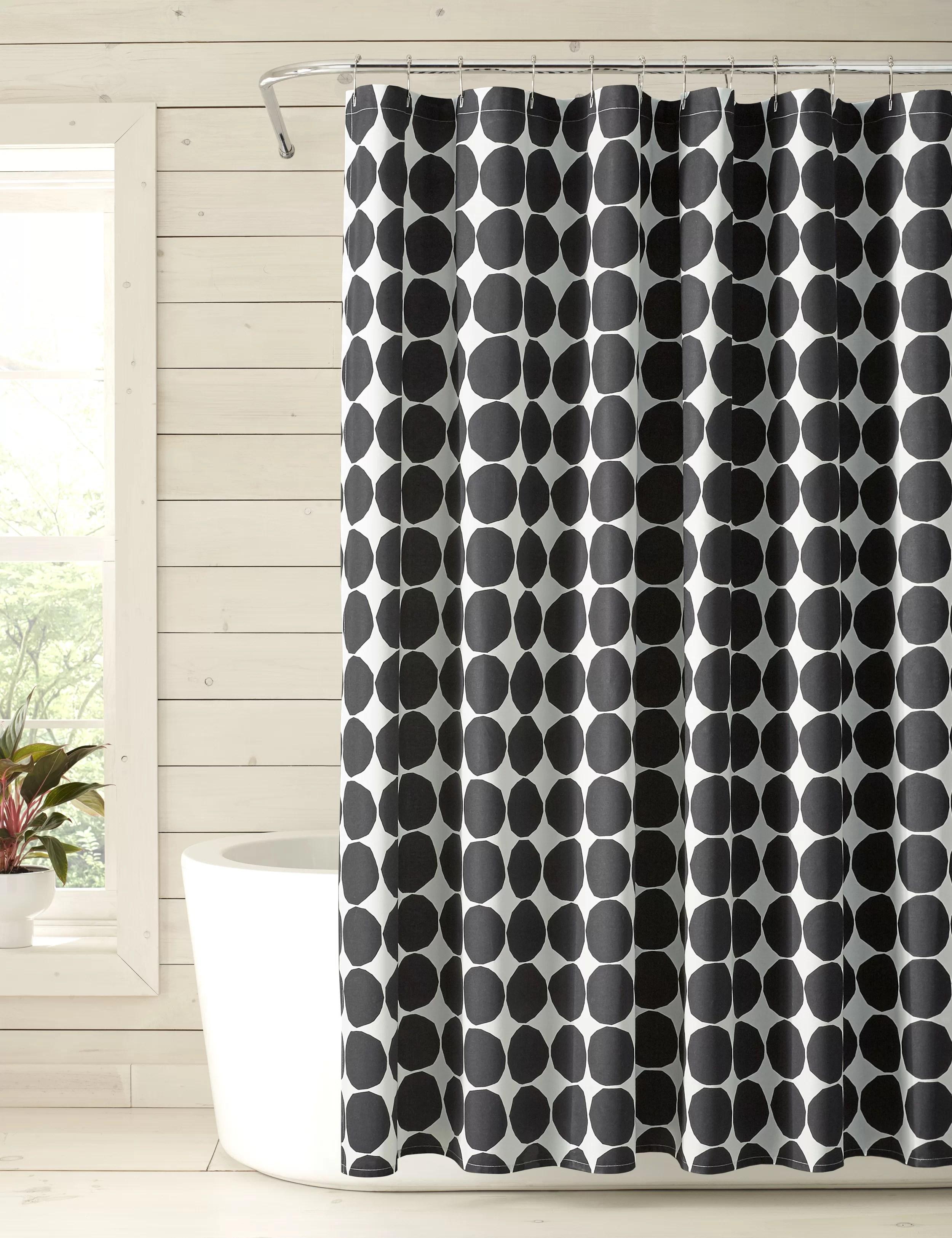 pienet kivet100 cotton single shower curtain