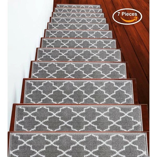 Beautiful Floral Design Stair Mats With Rubber Backing Outdoor | Gloria Rug Stair Treads | Mats | Area Rug | Stair Runners | Rubber Backing | Skid Resistant