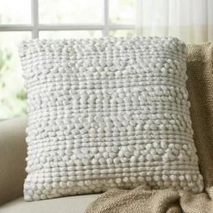 wayfair textured throw pillows you ll