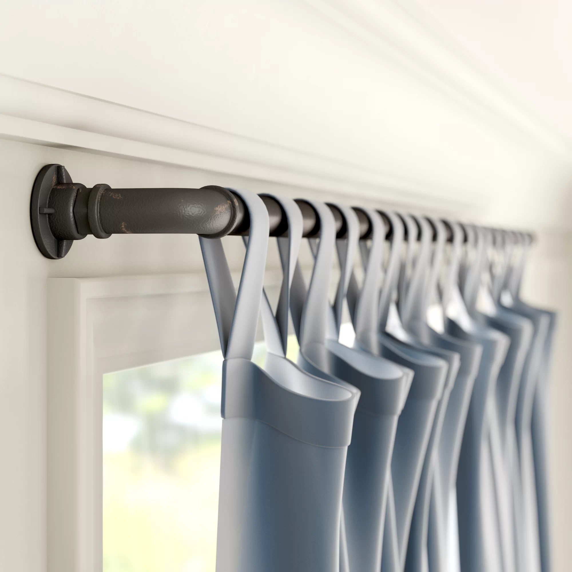 corner rod elbows curtain hardware