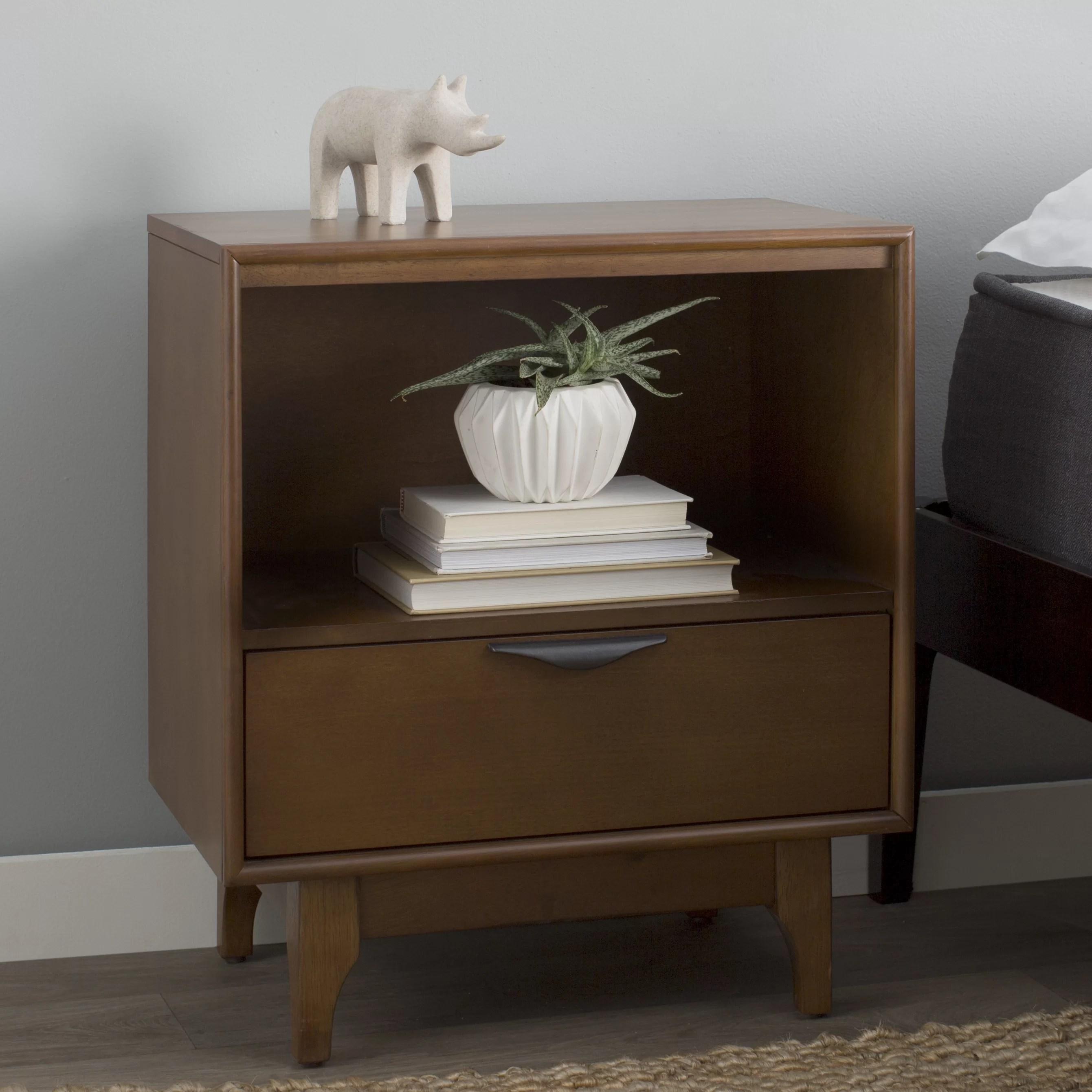 Modern Rustic Interiors Denzel 1 Drawer Nightstand