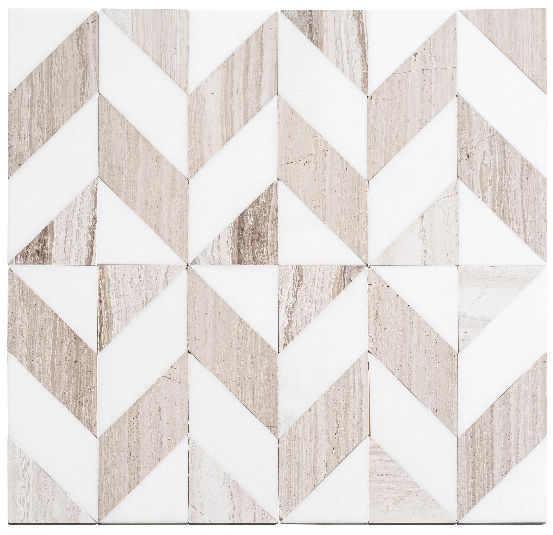 livmor marble chevron mosaic tile