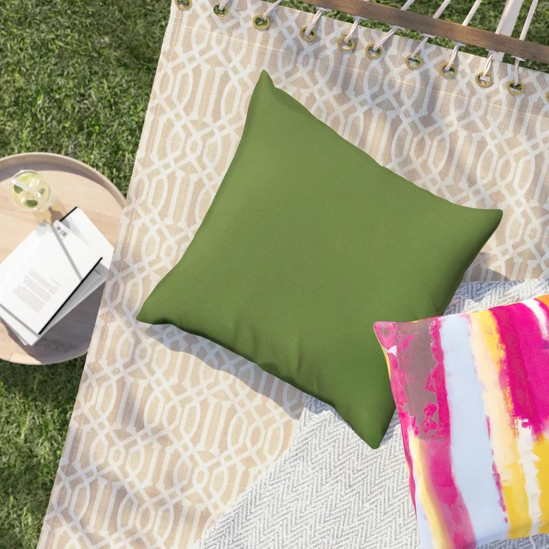 Crispin Indoor/Outdoor Square Pillow Cover & Insert