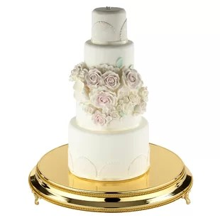 Gold Cake   Tiered Stands You ll Love   Wayfair Save