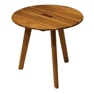 bruges solid wood side table