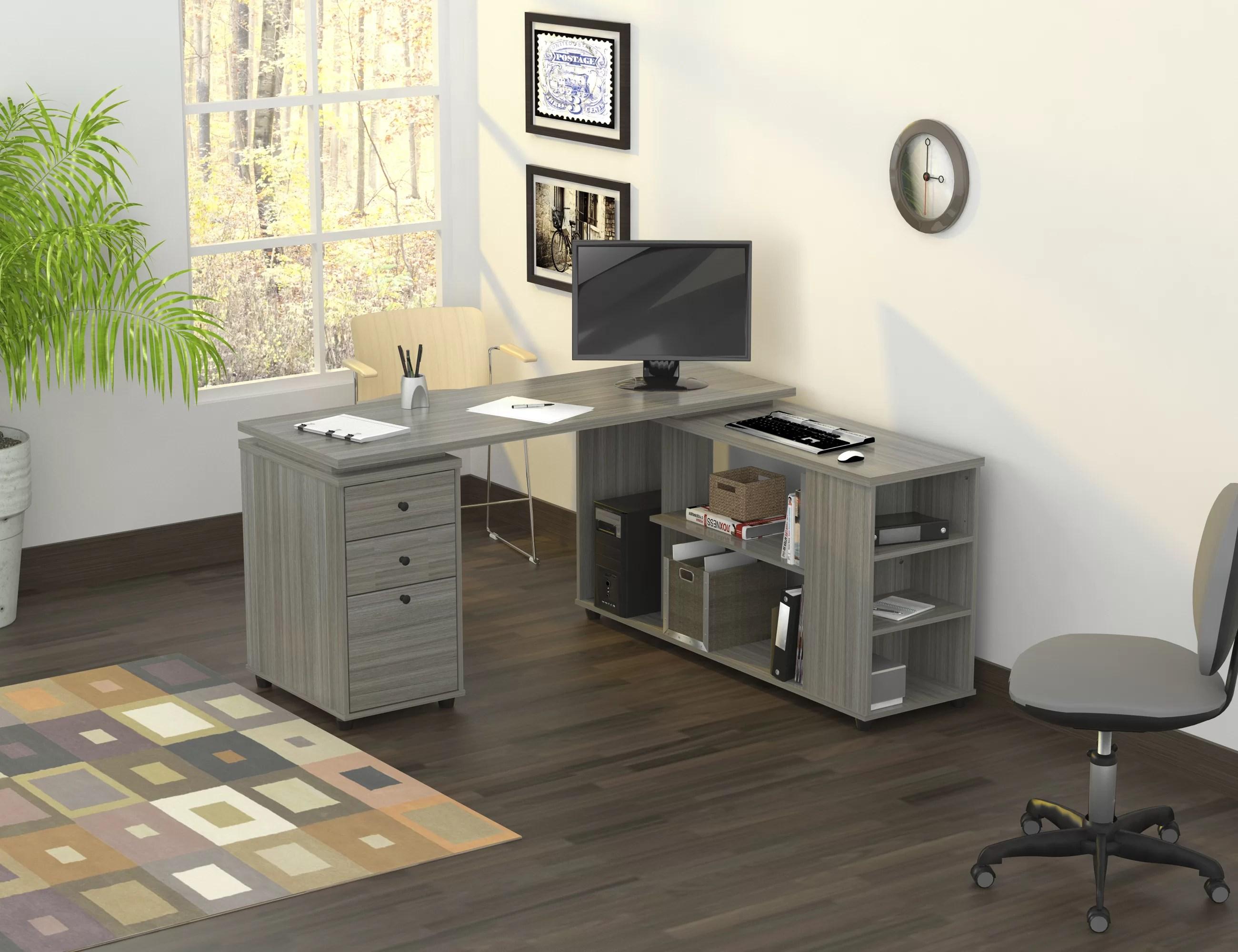 windsor reversible l shape computer desk
