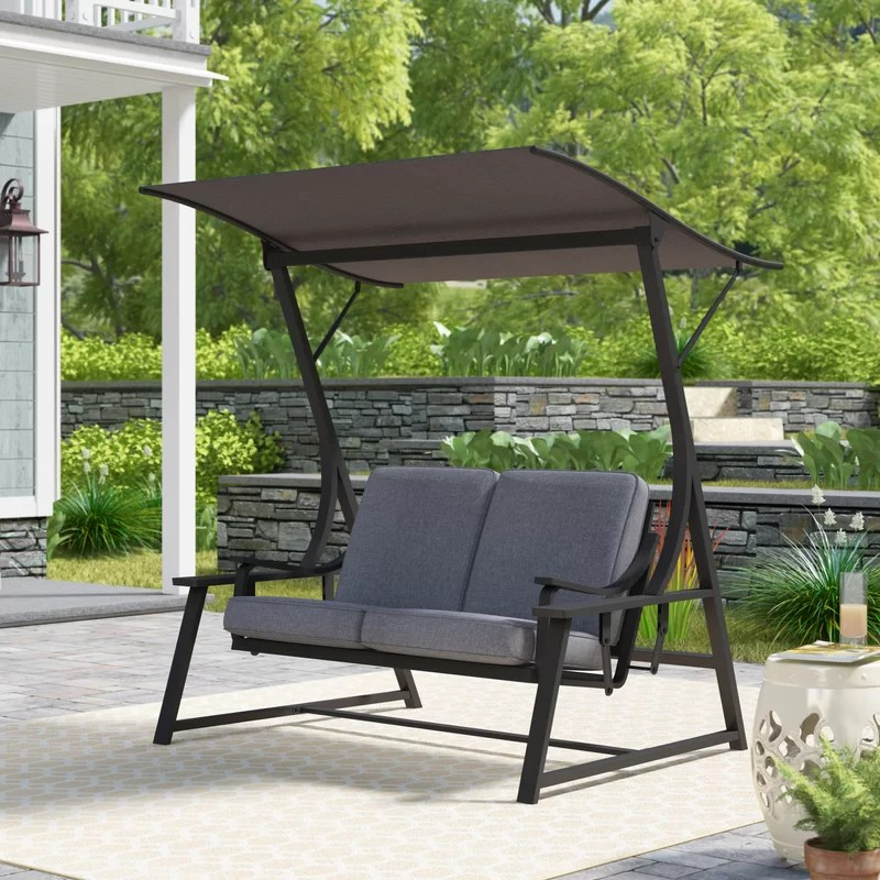 marquette glider porch swing with stand