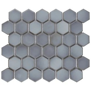hudson 2 x 2 porcelain honeycomb mosaic wall floor tile