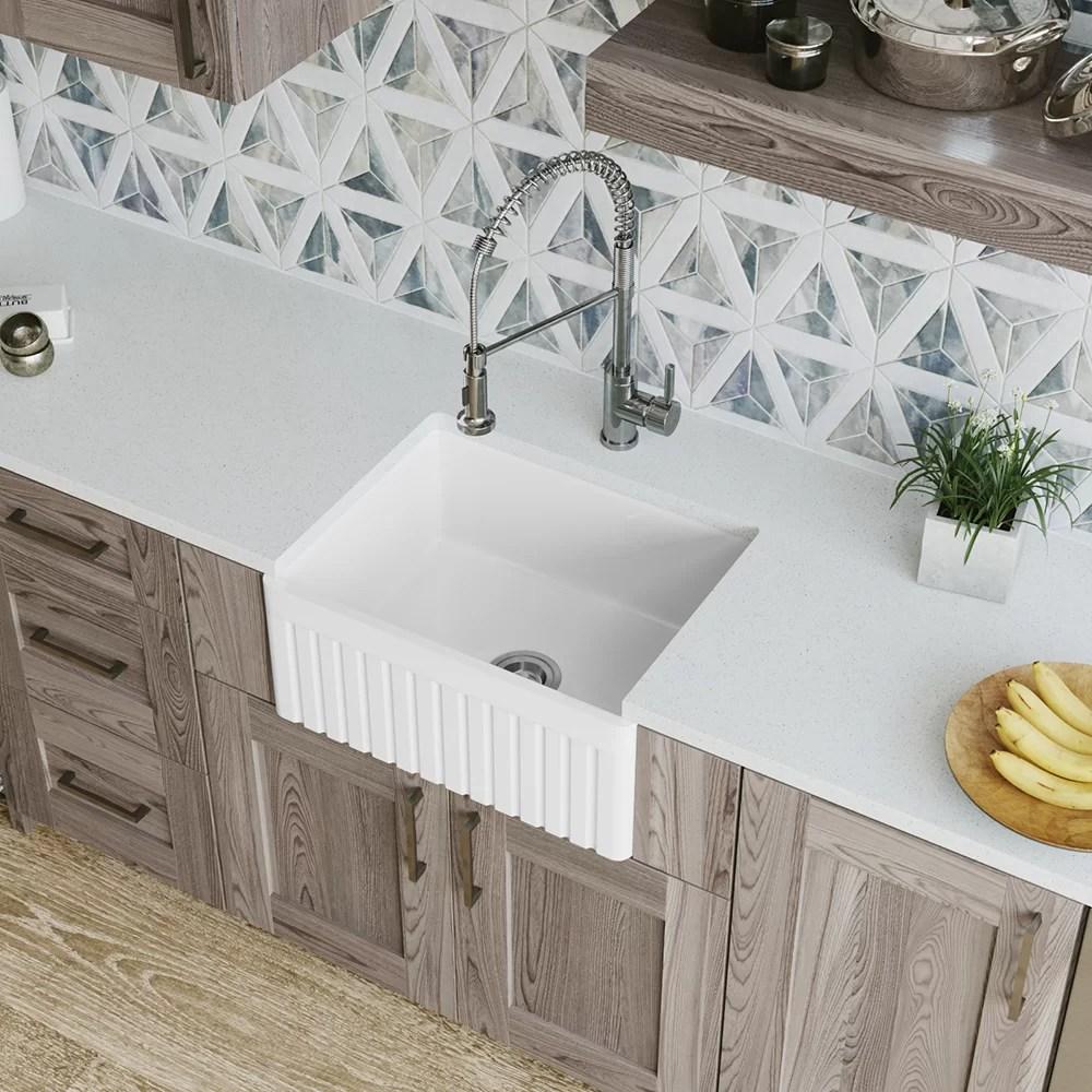 single bowl fireclay 24 x 18 farmhouse apron kitchen sink