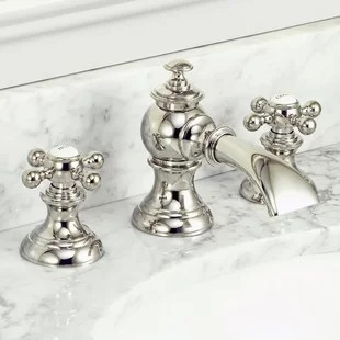 aravale classic widespread bathroom faucet with drain assembly
