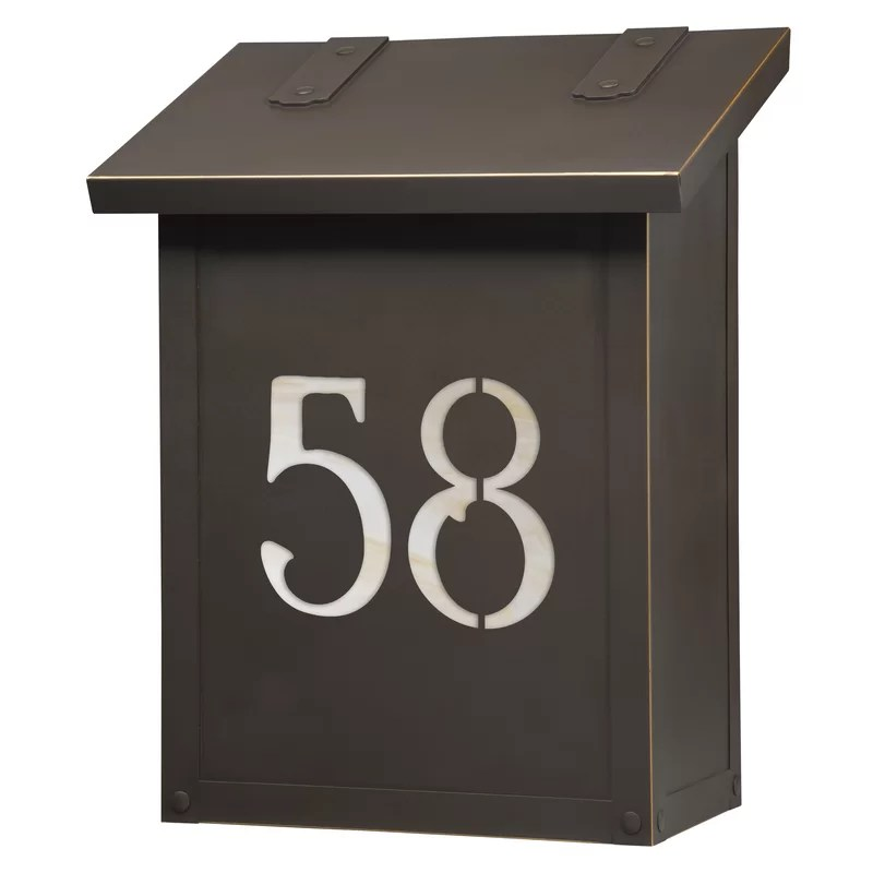 classic wall mounted mailbox
