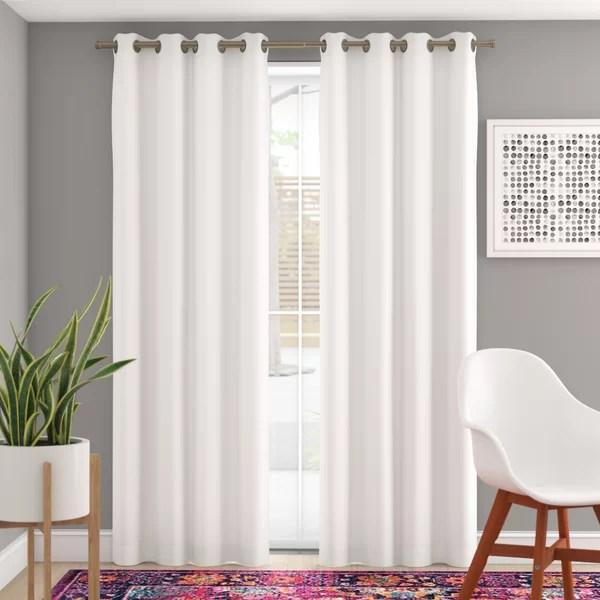 5 piece curtain panel set