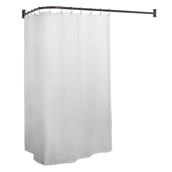wrap around shower curtain rod