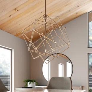 hobert 7 light statement geometric chandelier