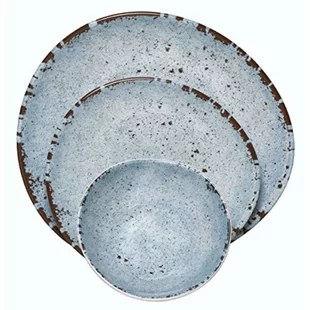 36 piece melamine dinnerware set service for 12