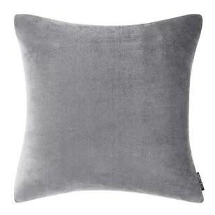 nautica valmont solid ultra soft plush grey euro sham