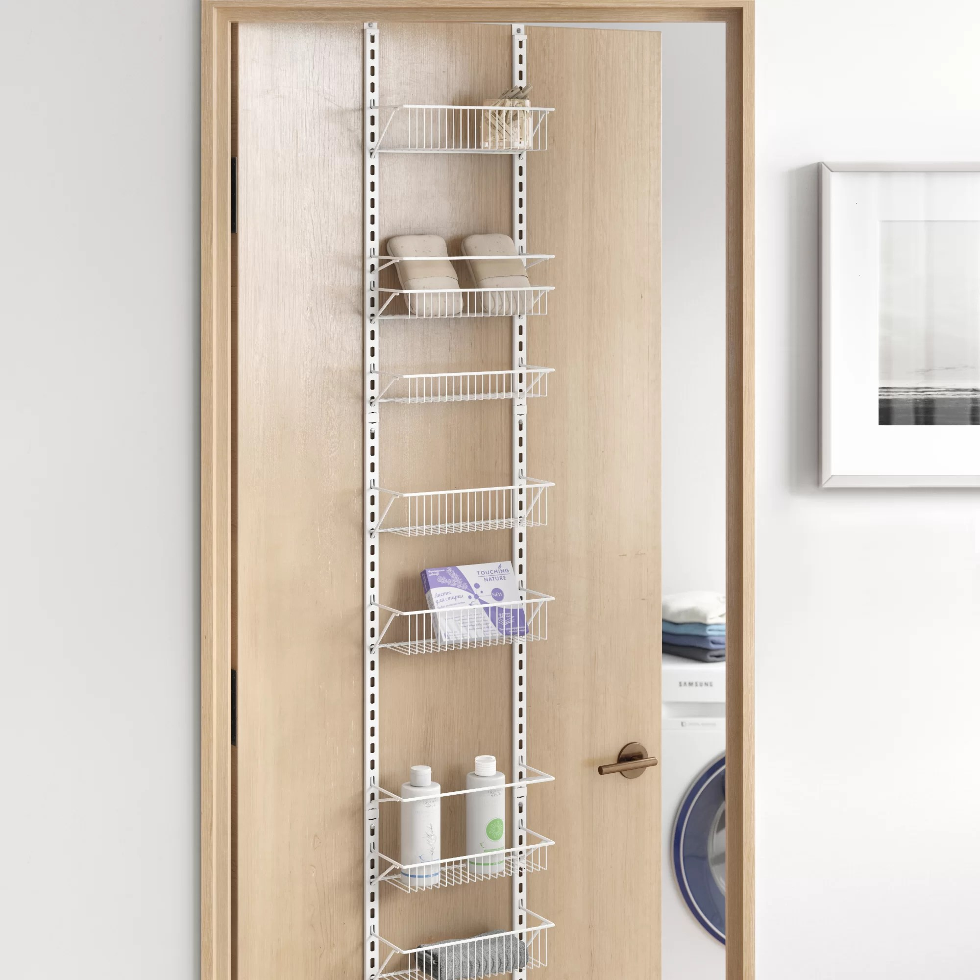 8 tier cabinet door organizer