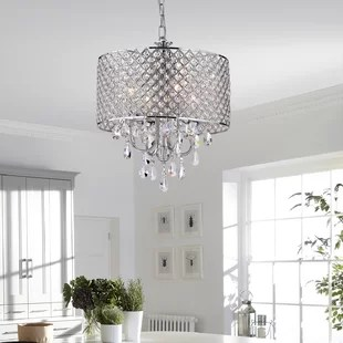 Chandeliers You ll Love   Wayfair Von 4 Light Crystal Chandelier  By House of Hampton
