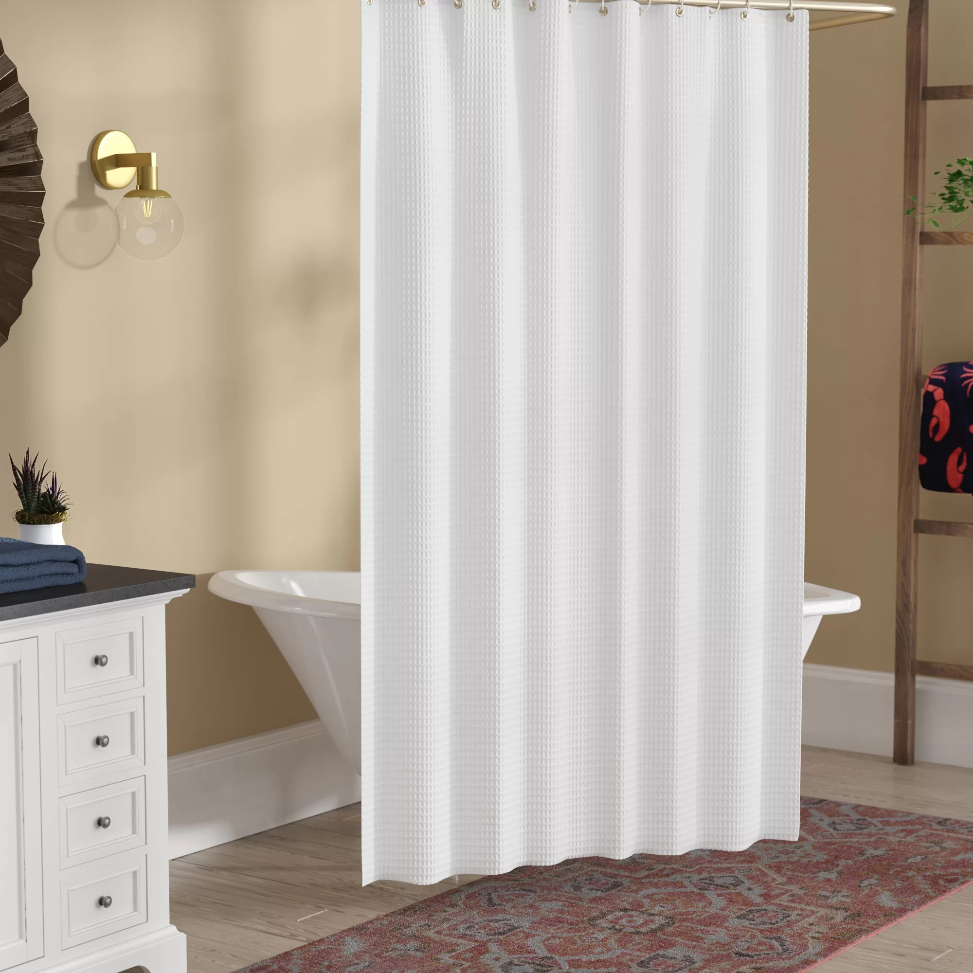 zella hotel spotted single shower curtain